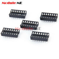 10pcs  16pin DIP IC Socket Adaptor Solder Type Socket Pitch Dual Wipe Contact