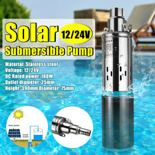 DC 12V/24V 180W 25M 3M³/H High Power Submersible Water Pump Deep Well Pump Cable