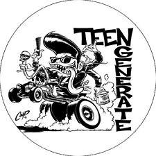 CHAPA/BADGE TEENGENERATE . pin button the cramps devil dogs garage trash punk
