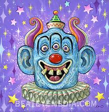 XNO Original Art-COMICS-Comic Art,monster,horror,Clown-circus-rat fink-PENNYWIS