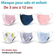 MASQUE LAVABLE coton PROTECTION RESPIRANT ADO COLLEGIEN ET ENFANT filtre à 90%