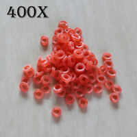 400pcs Fishing Nano Pellet Bands For Baits 2 - 12mm Bait Bands Carp Tackle red