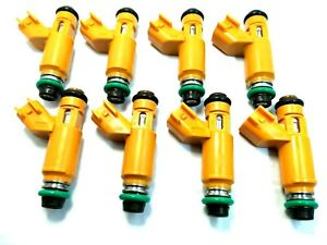 8XFUEL INJECTOR OEM Denso  2W93-AA For 2005-09 Land Rover LR3 4.4L V8  set of 8
