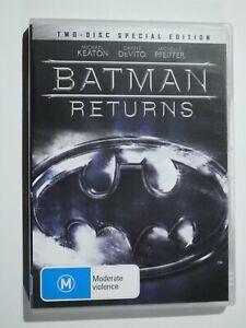 Batman Returns 2 Disc Set DVD Feat Michael Keaton Danny DeVito VERY GOOD COND