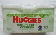 """HUGGIES Natural Care """"Sensitive"""" Baby Wipes 64 Towelettes with Pop-Up Tub"""