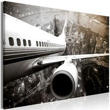 Flugzeug Städte LEINWAND Art DEKO BILDER XXL Bild Kunst Druck ESSZIMMER Wandbild