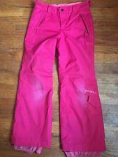 Oneill Santa Cruz Girls Sz 8 Pink Snow Pants Escape Series Thermal Insulated