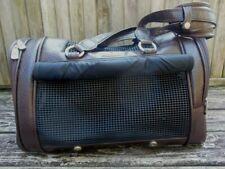 Samsonite Sightseer Chocolate Leather Like Pet Dog Animal Carrier Tote Very Nice