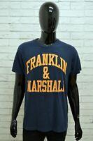 Maglia Uomo FRANKLIN & MARSHALL Taglia XL Maglietta Shirt Man Manica Corta Blu