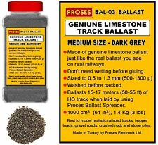 Proses BAL-03 Dark Grey Genuine Limestone Model Railway Ballast 1.4Kg / 3Lbs