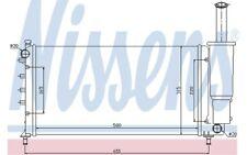 NISSENS Radiador, refrigeración del motor FIAT PUNTO 61886