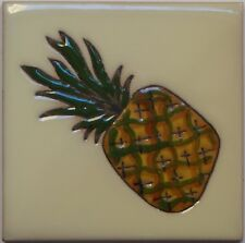 Mexican Tile Malibu Fruits Santa Barbara Tiles Cuerda Seca Pineapple  F-03