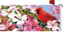 Cardinal Dogwood Flower Magnetic Mailbox Cover