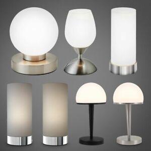 Tischleuchte Touchlampe dimmbar Nachttisch Schreibtisch Leselampe Wohnzimmer E14