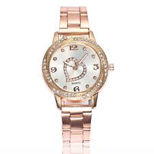 Luxury Womens Ladies Steel Stainless Analog Quartz Round Wrist Watch Watches ST