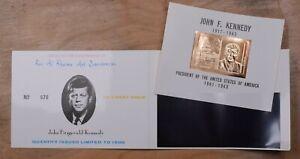 Mayfairstamps UAE 1963 Ras Al Khaima JFK Gold Kennedy Mint Limited Edition souve
