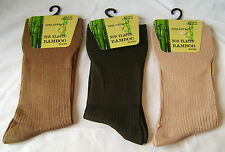 NEW MENS BLACK SUPER SOFT EXTRA FINE BAMBOO SOCKS PACK OF 3  SIZE UK 4-7
