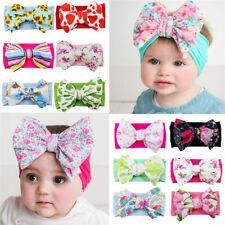 Newborn Baby Kids Bow Headband Soft Turban Floral Headwear Hairband Headwrap NEW