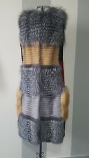 Pelliccia smanicato real fur coat woman_ шуба -50% SALE size S/M_ Made in Italy