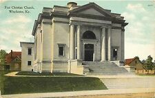1907-15 Postcard Posted; First Christian Church, Winchester KY Clark County