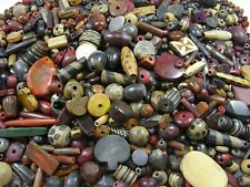 2 Pounds Assorted Horn Beads Loose Mix Many Shapes and Sizes Close Out Lot Sale
