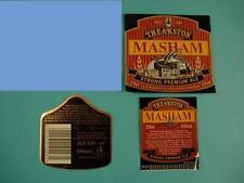 THEAKSTON BEST BITTER + MASHAM STRONG ALE beer label THEAKSTON'S Ripon Yorkshire