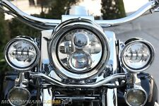 "7"" LED Projection Head Light Lamp Chrome for Harley Davidson FLH Touring Softail"