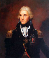 Male portrait Oil painting Admiral Nelson in his Military uniform hand painted