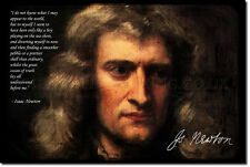 ISAAC NEWTON ART PRINT PHOTO POSTER GIFT PHYSICS SCIENCE
