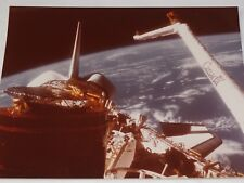 """The STS-51A Discovery Canada Robotic Arm Official NASA Color Photo 8"""" X 10"""" 1984"""