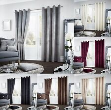 Riviara Faux Velvet Eyelet Top Fully Lined Curtains /Door Panels /Cushion Covers