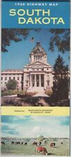 1960 Official State Issue Road Map Of South Dakota