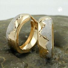Echter Edelmetall-Ohrschmuck ohne Steine aus Sterlingsilber mit Schraubverschluss