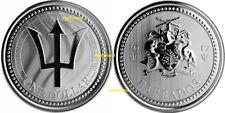 Trident     1 $ 2017   Barbados   1 Unze Silber   NUR 30000 Stück !!