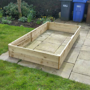 "4ft x 8ft x 12"" High Raised Bed FSC Timber with FREE Irrigation System Kit Grow"