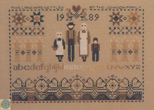Cross Stitch Chart / Pattern ~ Told In A Garden Amish Settlers Sampler #TG36