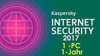 Kaspersky Internet Security Antivirus 1-Jahr 1-PC