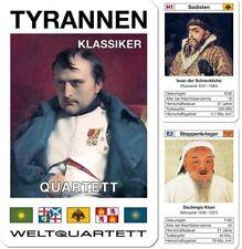 Tyrannen Klassiker Quartett Kartenspiel