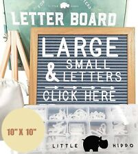 Felt Letter Board 10� X 10� + 685 Pre-cut Letters + Stand + Upgraded Wooden
