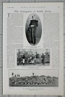 1900 PRINT PORTUGUESE IN SOUTH AFRICA EXPEDITIONARY CORPS PATROL OF LANCERS