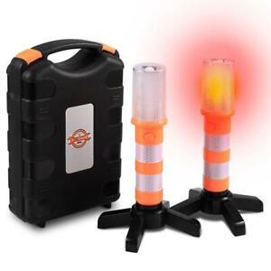 2 Stück LED Warnleuchte Strobe Blitzlicht Notfall Blinklicht für Auto Hilfe KFZ