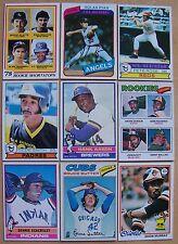1976 1977 1978 1979 Topps Lot Finish Complete Set 50 Picks ExMt - NrMt