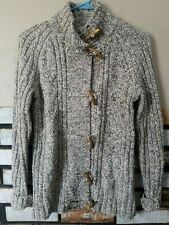 Ruff Hewn Toggle Button Front Cardigan Sweater Size M Wool Blend