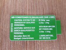 Genuine Mercedes-Benz w124 air conditioner Sticker A1248178220