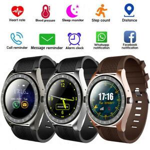 Smart Watch Bluetooth Blood Pressure Monitor Full Touch Screen TF card Memory