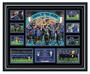 ITALY EURO 2020 CHAMPIONS SIGNED POSTER LIMITED EDITION FRAMED MEMORABILIA