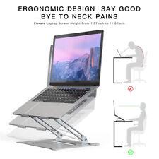 Laptop Stand Adjustable Riser Aluminum Alloy For 10-17.3 inch Laptops Tablets