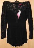 Motel Rocks Lee Lou Jumpsuit Black BNWT Size: Medium