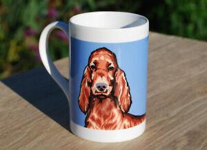 Irish Setter - single porcelain mug with original illustration.