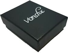 Jewellery Set Gift Box Storage Earrings Ring Bracelet PU Leather Black